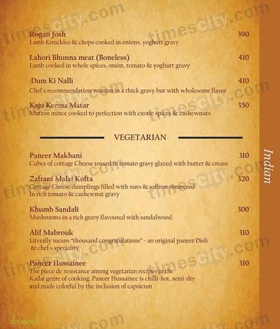 Moets Curry Leaf Menu 5