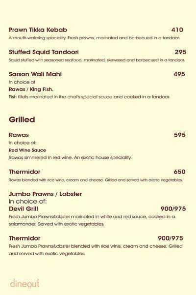 Charcoal Grill Menu 5