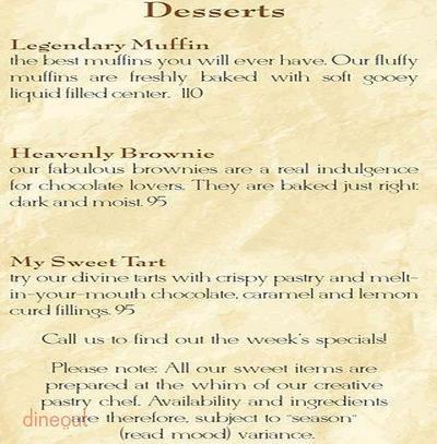 The Breakfast Club Menu 7