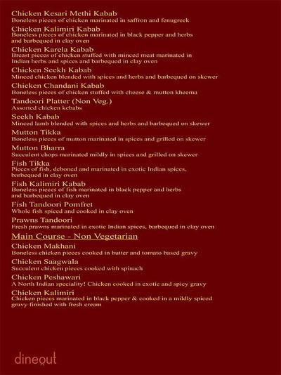 The Great Punjab Menu 11