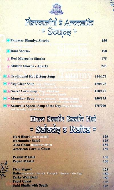 The Legacy of Sasuraal Menu 1