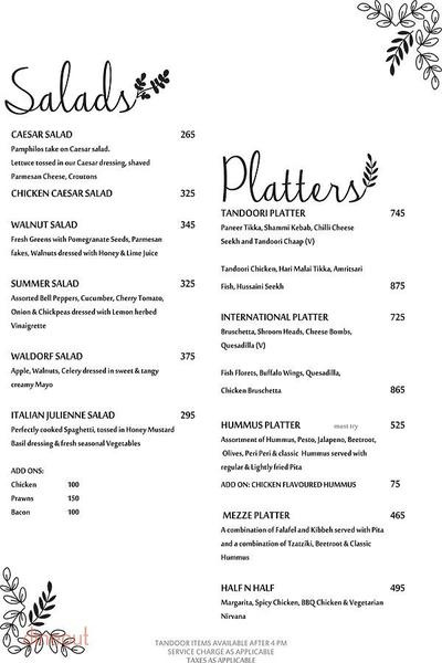 Pamphilos Kitchen & Bar Menu 2