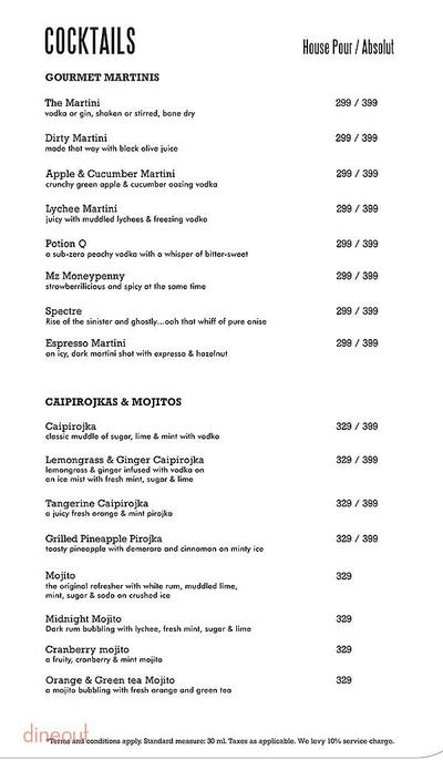 Harry's Bar + Cafe Menu 8