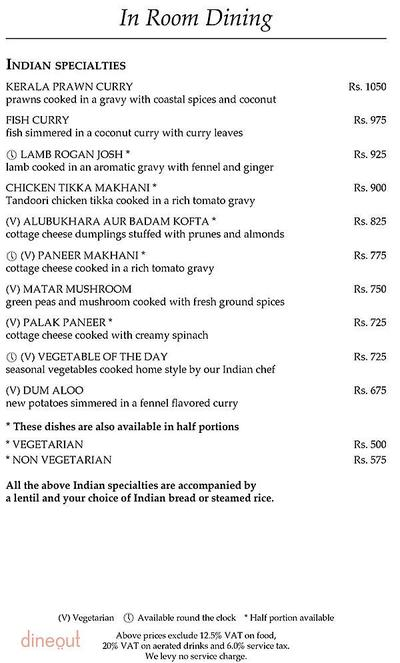 The Curzon Room - Maidens Hotel Menu 5