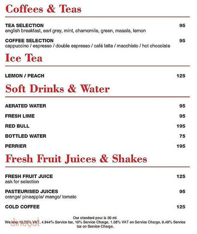RBG Bar & Grill - Park Inn By Radisson Menu 9