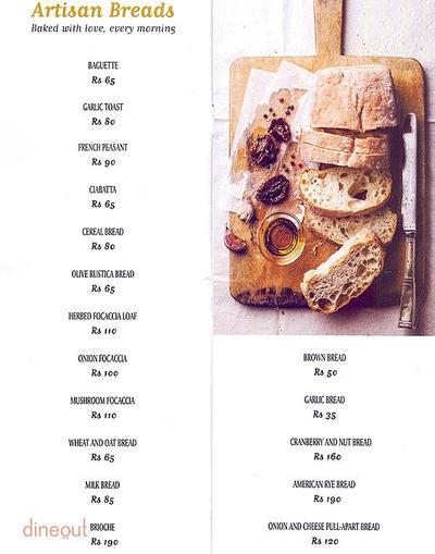 Bread & More Menu