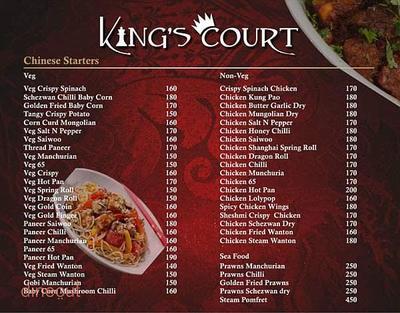 King's Court Menu 5