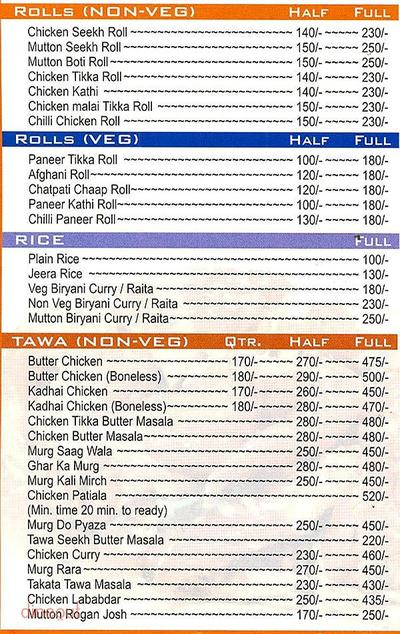Flavours Of Punjab Menu 1