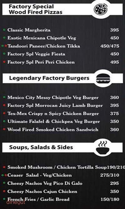 Global Food Factory Menu 1