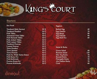 King's Court Menu 7