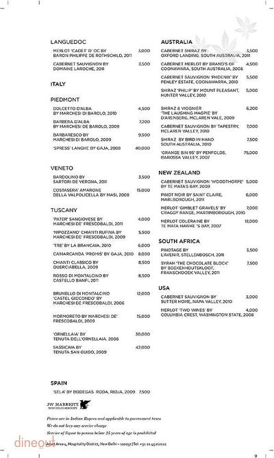Akira Back - JW Marriott Hotel Menu 9