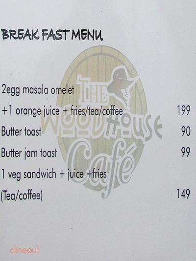 The Woodhouse Cafe Menu