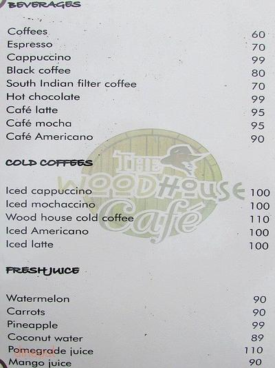 The Woodhouse Cafe Menu 5
