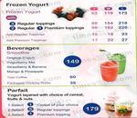 Yogurberry Menu