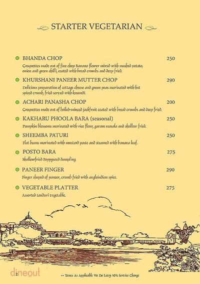 Mandaa - Ethnic Sea Food Menu 1
