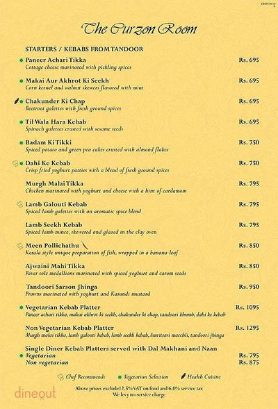 The Curzon Room - Maidens Hotel Menu 10
