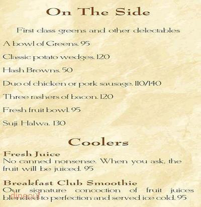 The Breakfast Club Menu 6