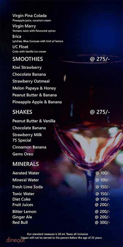 City 75 Pub & Patio Menu 12