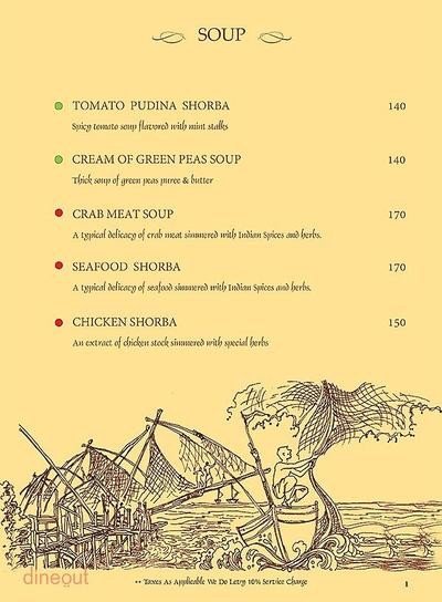 Mandaa - Ethnic Sea Food Menu