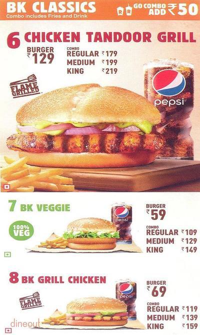 Burger King Menu 3