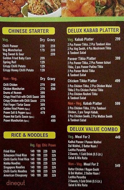 Moti Mahal Delux Legendary Culinary Menu 2