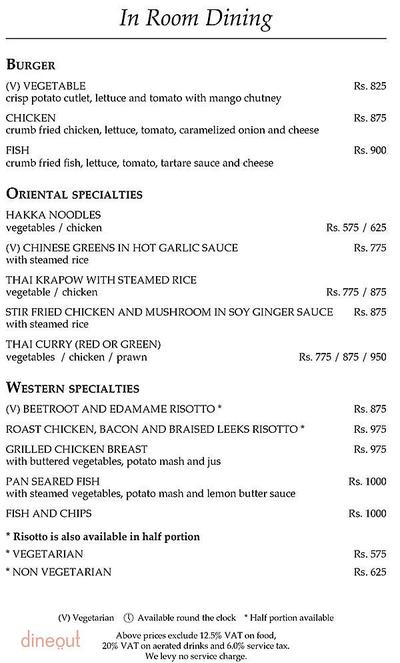 The Curzon Room - Maidens Hotel Menu 4