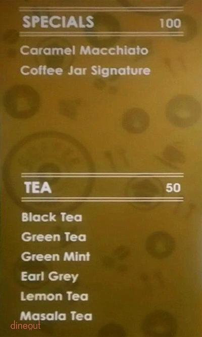 Coffee Jar Menu