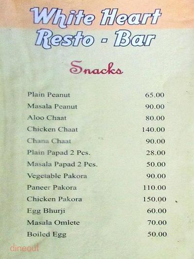 White Heart Resto Bar Menu 3