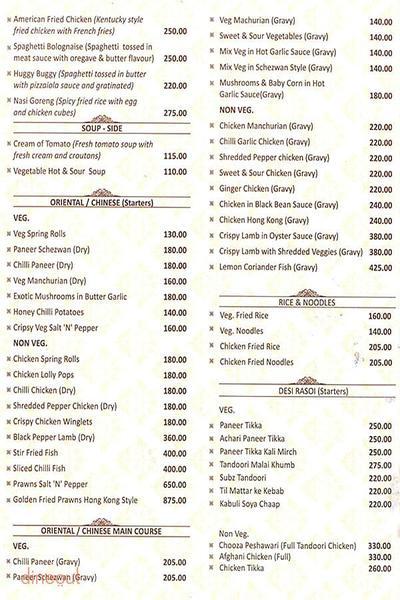 1 - The Restaurant Menu 1