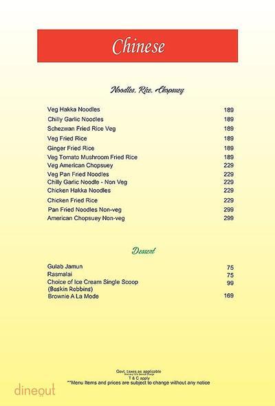 The Fizz Restaurant Bar & Lounge Menu 7