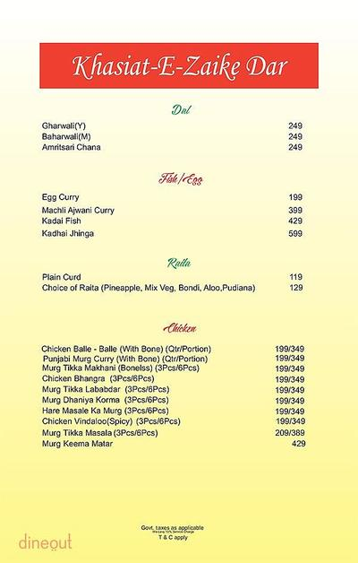 The Fizz Restaurant Bar & Lounge Menu 2