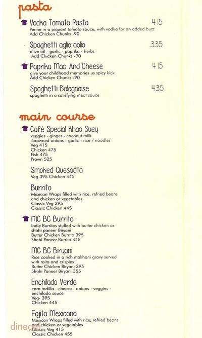 Market Cafe Menu 3