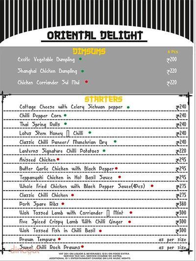 Lanterns Kitchen & Bar Menu 2