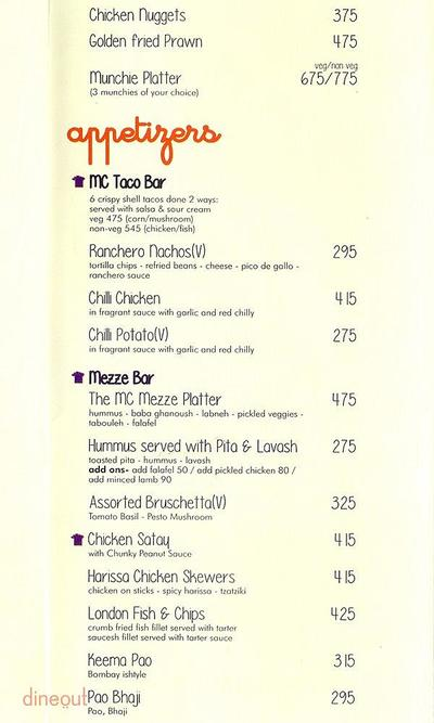Market Cafe Menu 1