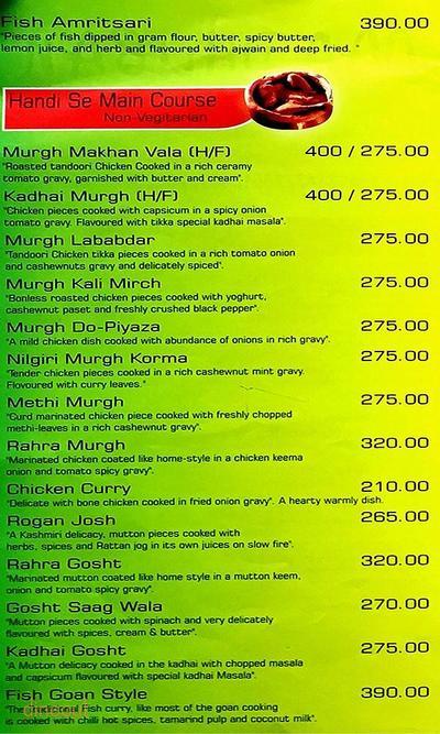 Madhuban Fine Dining Menu 1