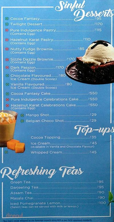 Cafe Coffee Day Menu 4