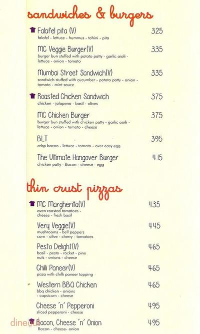 Market Cafe Menu 2