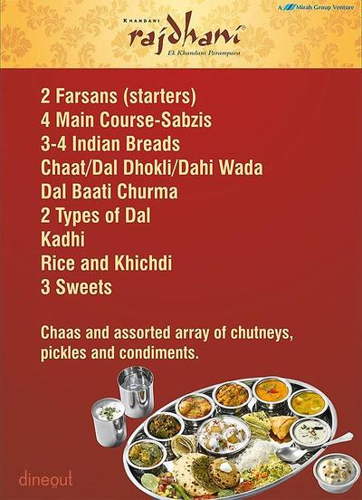 Khandani Rajdhani Menu 1