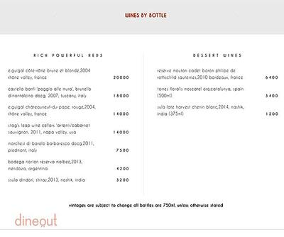 Indian Accent - The Manor Menu 9
