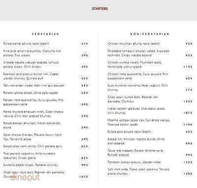 Indian Accent - The Manor Menu 3