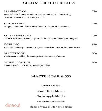 Onyx Bar - The Royal Plaza Menu 11