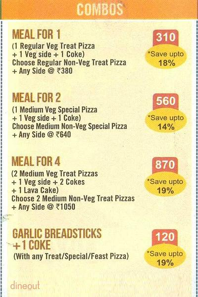 Domino's Pizza Menu 1