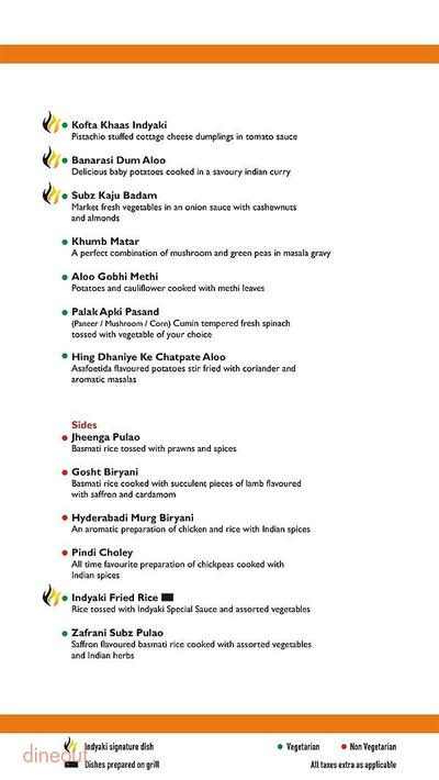 Indyaki - Radisson Blu Hotel Paschim Vihar Menu 8