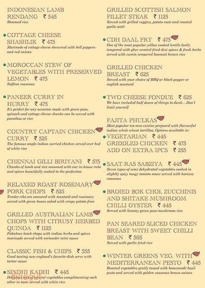 Cafe Delhi Heights Menu 11