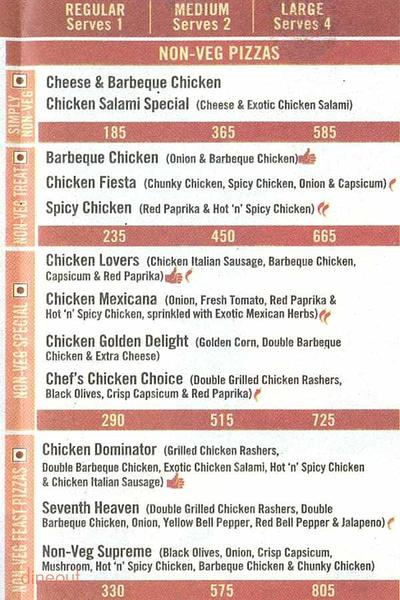 Domino's Pizza Menu 2
