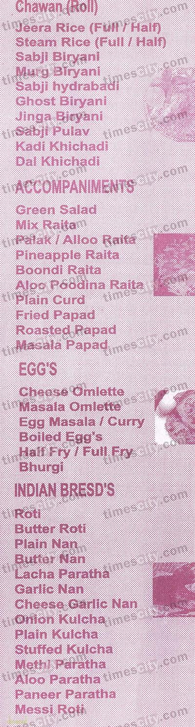 Sheetal Family Resto Bar Menu 4