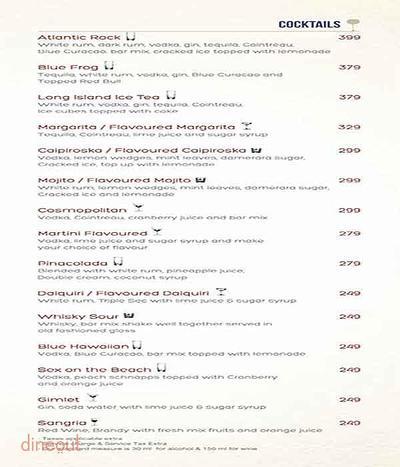 Atlantics Bar Grill & Banquets Menu 10