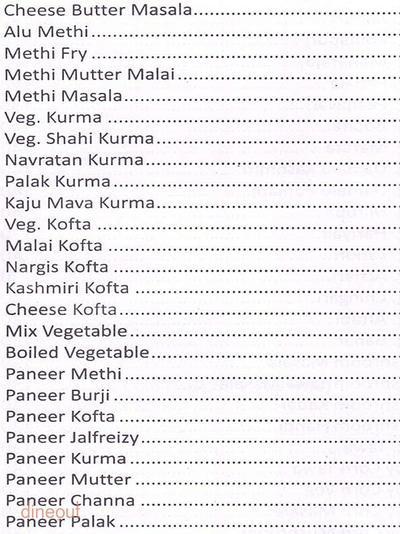 Shiv Sagar Menu 7