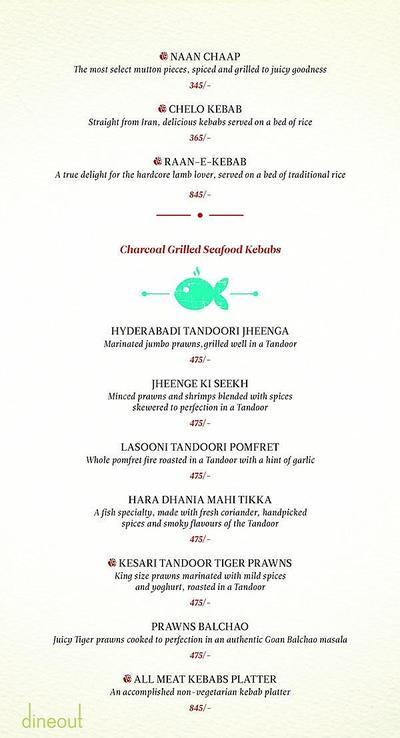 Zaheer Khan's Dine Fine Menu 3