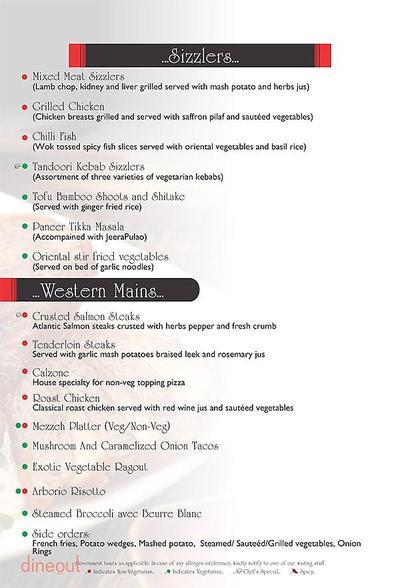 Level 2 - Radisson Blu Hotel Paschim Vihar Menu 3